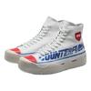 LI-NING 李宁 溯系列 男子运动帆布鞋 AGCQ237-1 标准白/朱砂红/南极灰 45