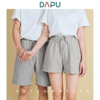 DAPU 大朴 AF2F12101 情侣纯棉睡裤短裤