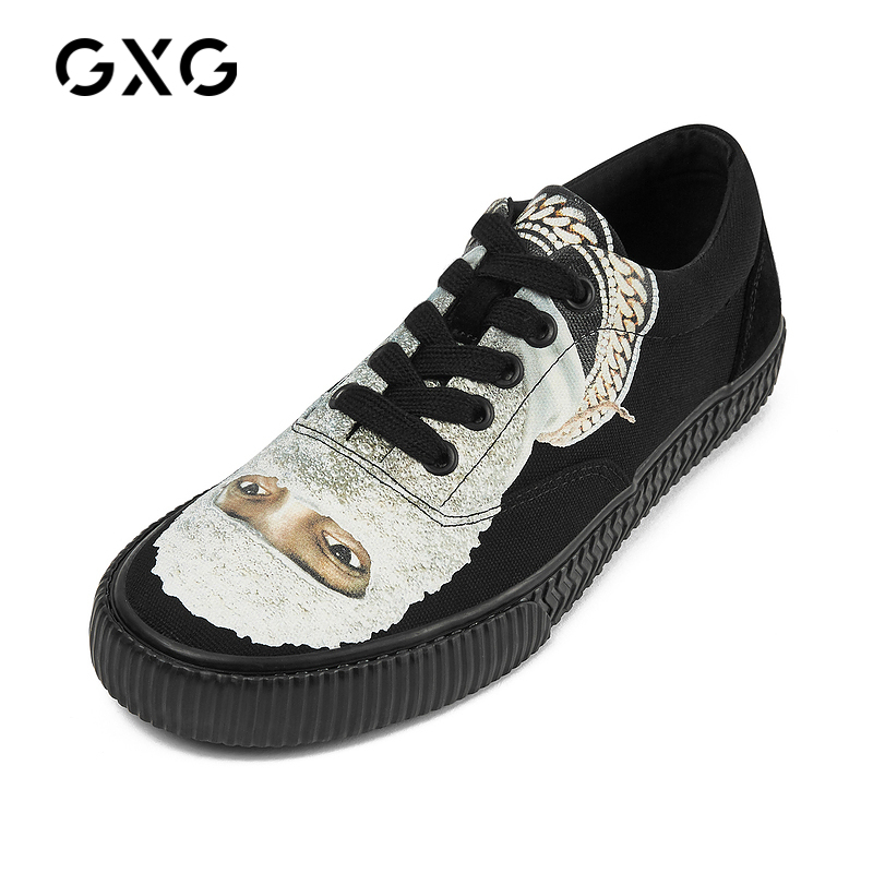 GXG IHNOMUHNIT联名 男士帆布鞋