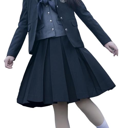 樱花家族 JK制服 女士百褶裙 黑色 45cm XS
