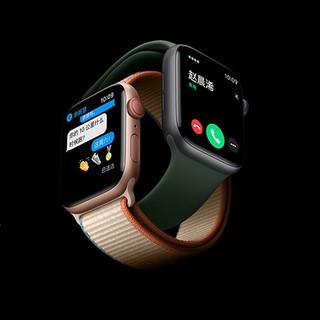 Apple 苹果 Watch Series 6 智能手表 44mm GPS版 黑色铝金属表壳 黑色橡胶表带 (GPS、血氧)