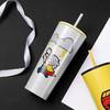 MINISO名创优品 漫威卡通系列冰杯子创意个性潮流学生防摔吸管杯夏 雷神