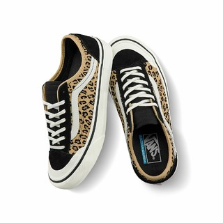 Vans范斯官方 豹纹印花侧边条纹女鞋Style 36低帮潮板鞋运动鞋