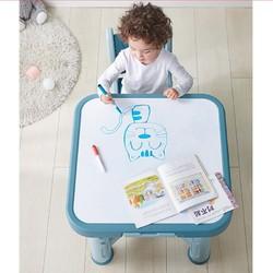 kub 可优比 宝宝桌椅套装 凝蓝色 1桌1椅