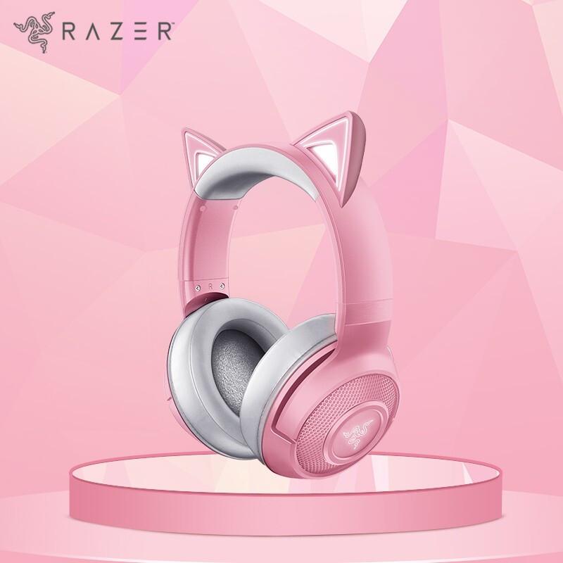 RAZER 雷蛇 北海巨妖 BT萌猫版 头戴式蓝牙无线耳机