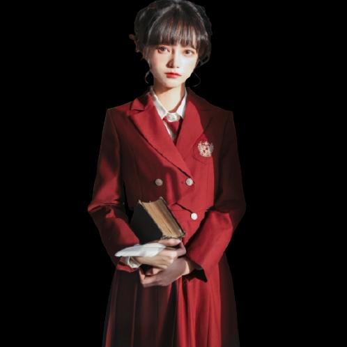 胡桃木JK 锡兰红茶 JK制服 西式制服 女士西装外套 S