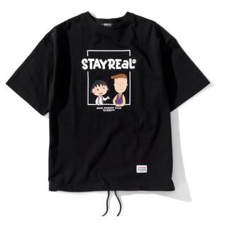 STAYREAL 樱桃小丸子联名系列 男女款抽绳短袖T恤 TC21011