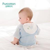 PLUS会员:Purcotton 全棉时代 婴儿纱布汗巾 纯棉隔汗巾(小猫扑蝴蝶+小鹿和蝴蝶+小鸟和四叶草) 25*50cm 3条装