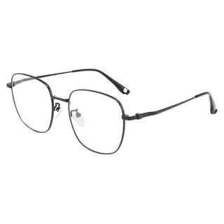 Coastal Vision 镜宴&essilor 依视路 CVF2021 BK 黑色钛金属眼镜框+1.60折射率 非球面镜片