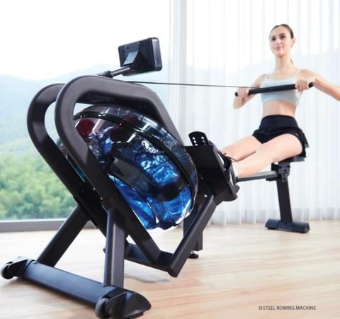 MERACH 麦瑞克 水阻折叠划船机家用室内健身器材纸牌屋智能运动静音划船器