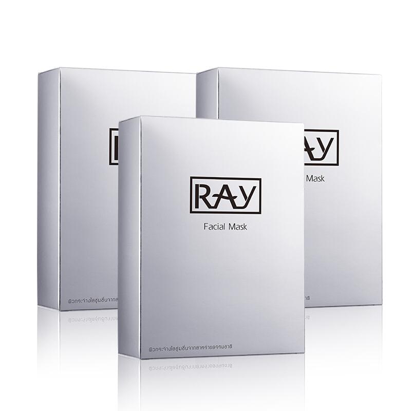 RAY 妆蕾 妆蕾RAY补水面膜 银色3盒(泰国RAY面膜 银色补水面膜 原装进口 面膜男女 深层补水 平衡水油)