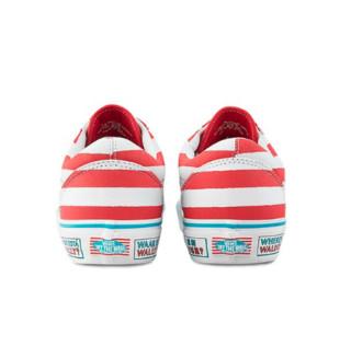 VANS 范斯 CLASSICS经典系列 WHERE'S WALDO联名款 中性运动帆布鞋 VN0A3WKT3UV 红色/白色 42