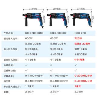 博世电锤电钻电镐家用多功能轻型电动工具冲击钻GBH220