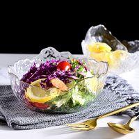 法兰晶 日式锤纹玻璃沙拉碗 300ml*2个