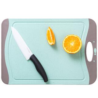 京东PLUS会员 : 爱思得 稻壳菜板 防滑砧板  中号 绿色
