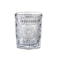 曼薇  太阳花浮雕玻璃杯 300ml