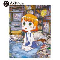 ARTMORN 墨斗鱼艺术 日本潮流艺术家Mr 亲笔签名版画 日本直邮限量
