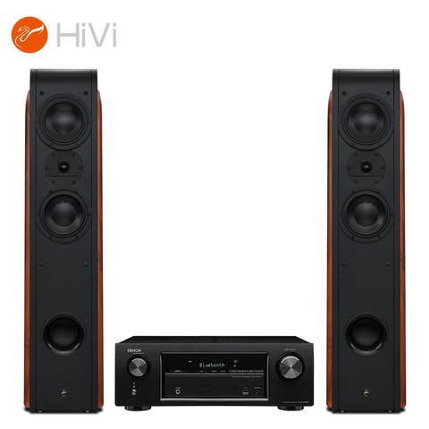 HiVi 惠威 惠威(HiVi)D3.2F+天龙X518 功放 音响 家庭影院套餐2.0声道 客厅高保真落地音箱 木质 HiFi