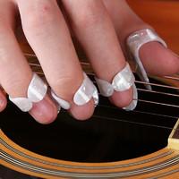 曼爾樂器  吉他指套撥片 尤克里里初學者防痛指套 指彈吉他撥片 右手手指保護套 象牙白