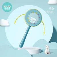kub 可优比 可优比(KUB)婴儿拨浪鼓玩具0-3岁宝宝安抚传统木质手摇鼓 拨浪鼓-绿色