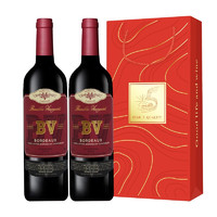 PLUS会员:璞立酒庄   BV红酒波尔多混酿红葡萄酒  750ml*2瓶