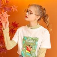 KUHNMARVIN 库恩玛维 ✖️ 蜡笔小新联名系列 女士短袖T恤  K86818