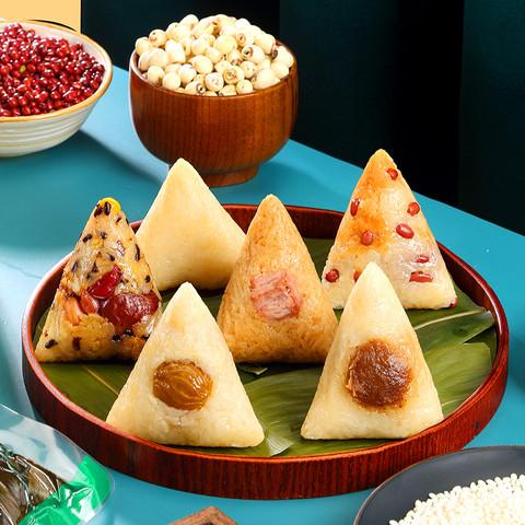 秋香 传统端午粽子鲜肉豆沙红枣泥蜜枣新鲜肉粽枧水粽