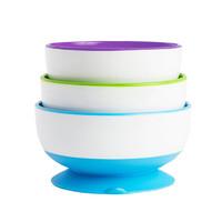 munchkin 满趣健 多彩儿童吸盘碗3只装