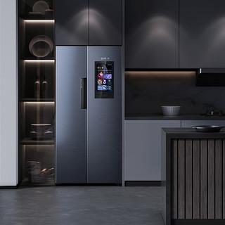 VIOMI 云米518升智慧互动大屏智能冰箱 纤薄对开门冰箱 云小鲜
