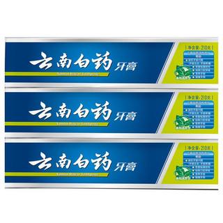 YUNNANBAIYAO 云南白药 薄荷清爽型牙膏 210g*3