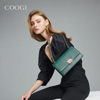 coogi E306227210 女士鱼子纹盖头链条包