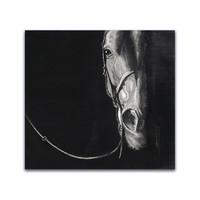 青研会 孙浩《马的肖像2》80x87cm 装饰画 版画 210g进口版画纸