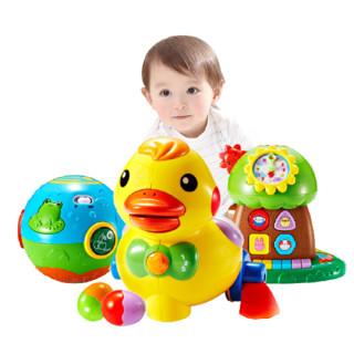 auby 澳贝 小黄鸭+趣味小树+农场滚滚球 0-12个月