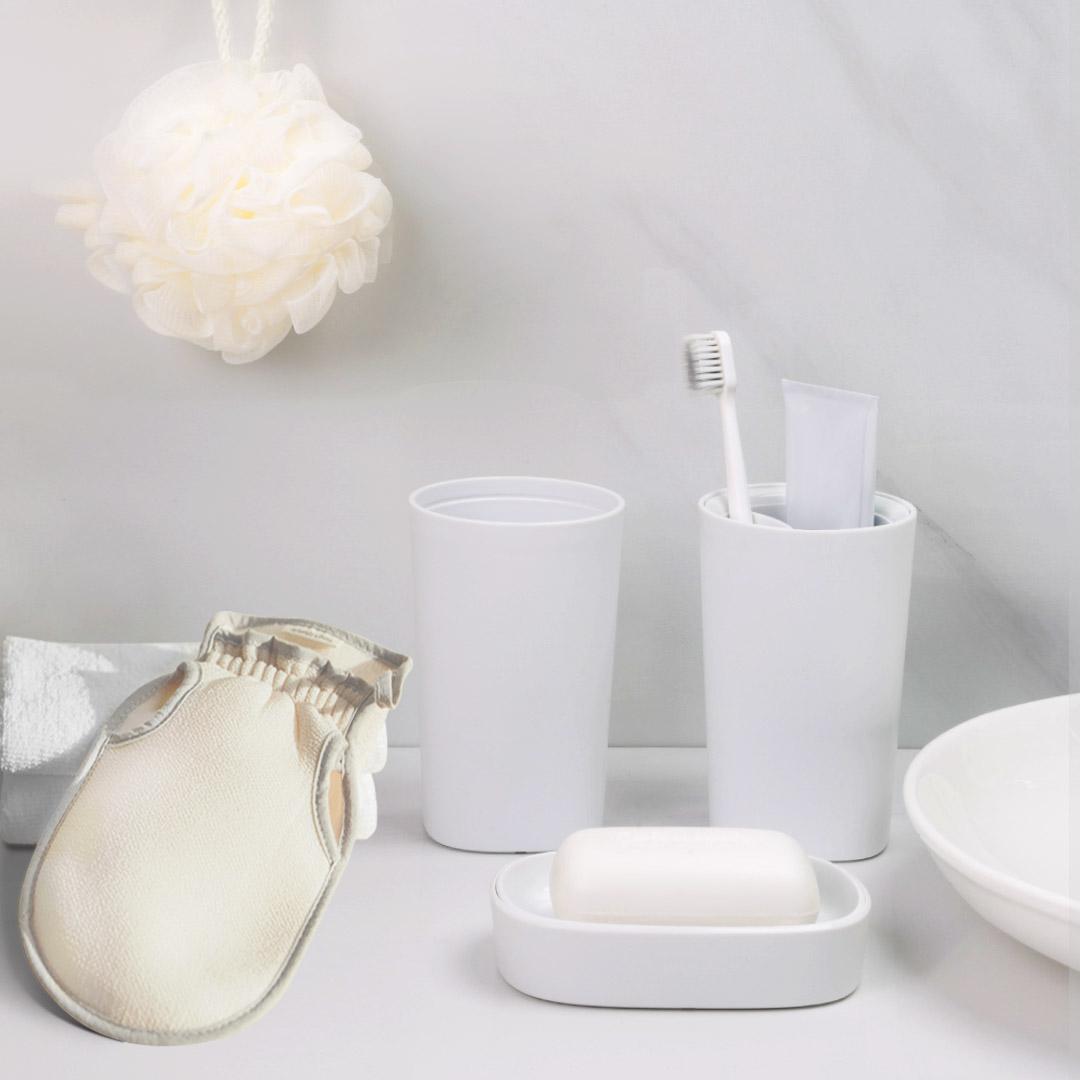 限新用户 : Quange 全格 简约洗漱套装 洗漱杯+牙刷收纳杯+皂盒