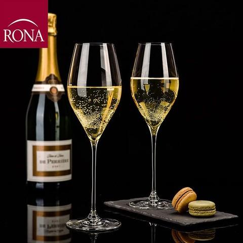 RONA RONA斯洛伐克进口香槟杯香水晶玻璃宽口酒杯2只装SWAN天鹅