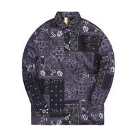 KITH 男士长袖衬衫 KH030044-302 黑色 XS
