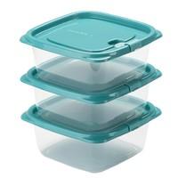 CHAHUA 茶花 冰箱储物保鲜盒 460ml*3个装