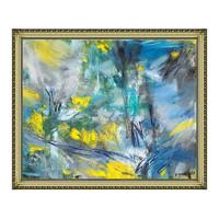 雅昌 雅昌 熊宁辉抽象油画《兰色的行板和快板》91×75cm 油画布