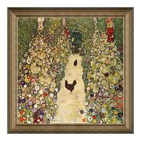 雅昌 克里姆特《有母鸡的园中小径》60×60cm 装饰画 油画布