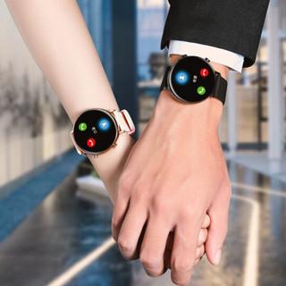 OLOEY 62wEYksz 智能手表 42mm 玫瑰金合金表盘 玫瑰金不锈钢表带(血压、血氧、ECG)