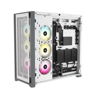 美商 海盗船5000D/5000X中塔机箱水冷侧透游戏电脑台式机组装机箱 5000X RGB黑