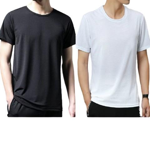 yookdd 尤克达蒂 冰丝网眼短袖T恤 2件装