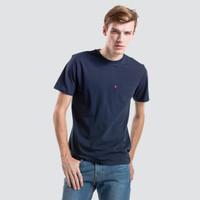 Levi's 李维斯 男士藏青色圆领纯棉短袖T恤