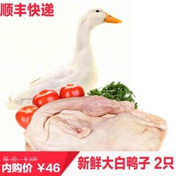 散养新鲜大白鸭 净重2斤*2只