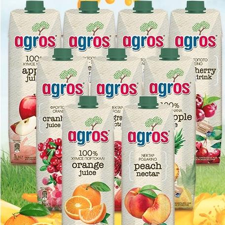 agros 莱果仕 苹果果汁 果味饮料 1L*2瓶