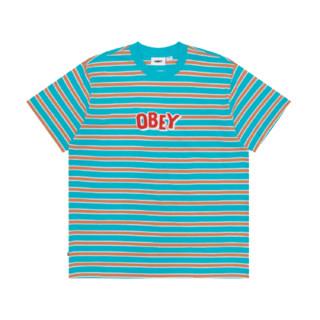 OBEY 男士条纹短袖T恤 1080290G