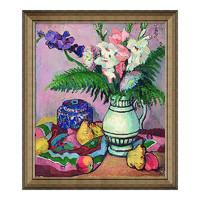 雅昌 潘玉良《菖莆与水果》70x61cm装饰画 油画布