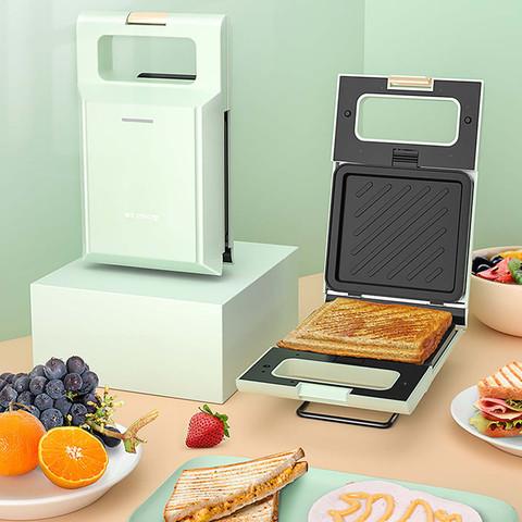CHIGO 三明治早餐机 家用可拆洗小型煎饼吐司轻食压烤机华夫饼机电饼铛