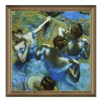 雅昌 埃德加·德加《蓝色舞者》73×74cm 装饰画 油画布