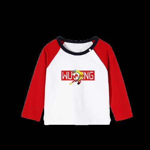 YUZHAOLIN 俞兆林 男童T恤 大闹天宫505插肩撞色白+红  120cm